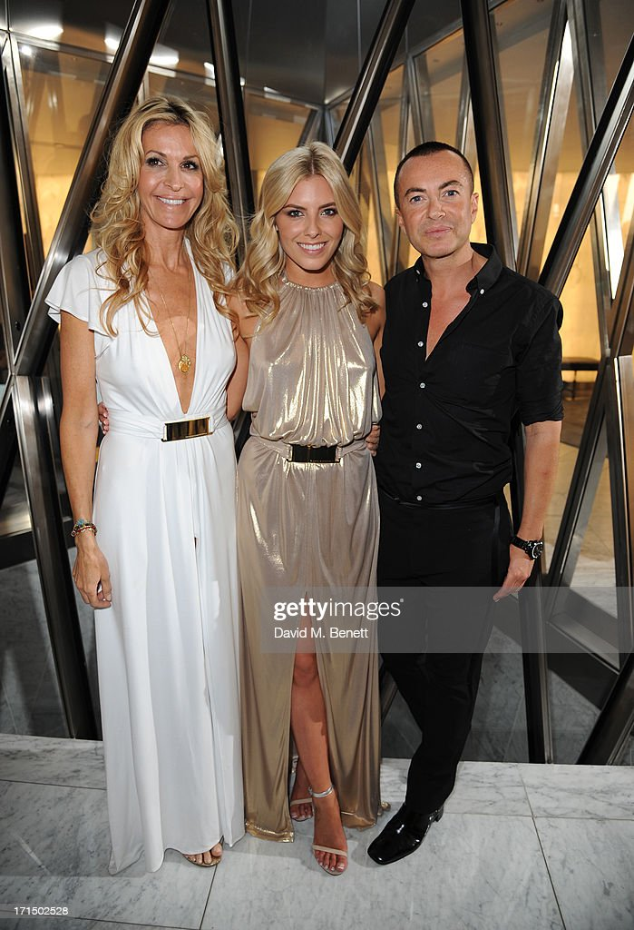 Melissa Odabash, Mollie King and Julien Macdonald attend the Odabash Macdonald Resort 2014 collection launch at ME Hotel on June 25, 2013 in London, England.