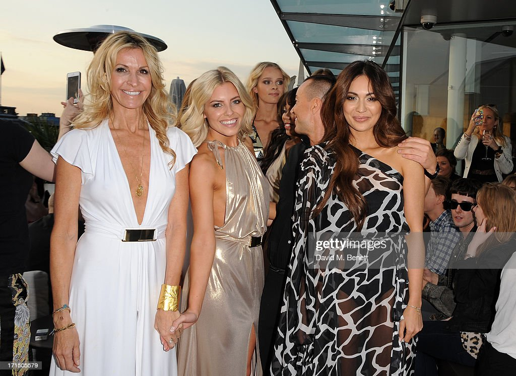 Melissa Odabash, Mollie King, Zara Martin and Julien Macdonald on the runway at the Odabash Macdonald Resort 2014 collection launch at ME Hotel on June 25, 2013 in London, England.