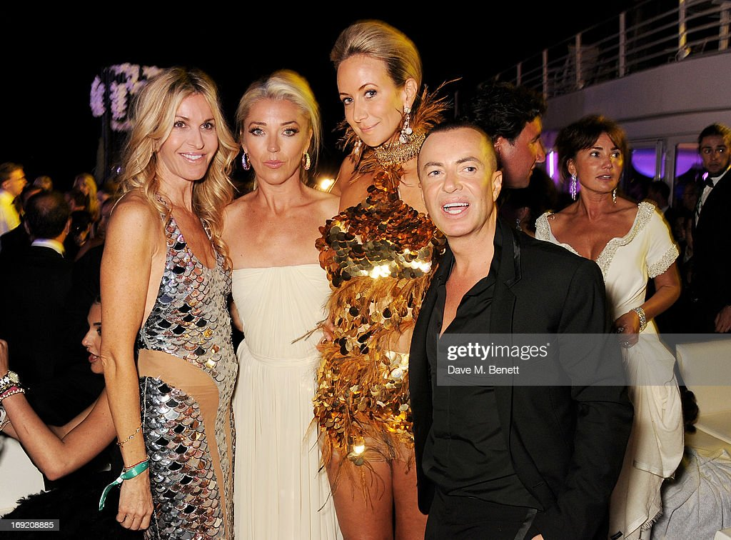 Melissa Odabash, Tamara Beckwith, Lady Victoria Hervey and Julien Macdonald attend the de Grisogono Party during the 66th International Cannes Film Festival at Hotel Du Cap on May 21, 2013 in Antibes, France.