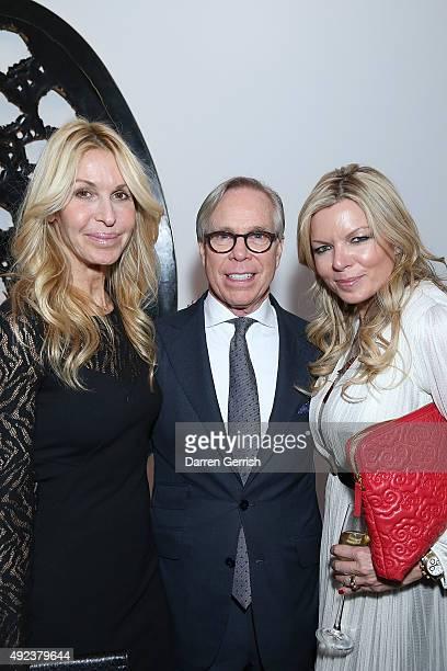 Melissa Odabash Tommy Hilfiger and Fru Tholstrup attend a Contemporary Art party hosted by Tommy Hilfiger Dylan Jones and Sotheby's at Sotheby's on...