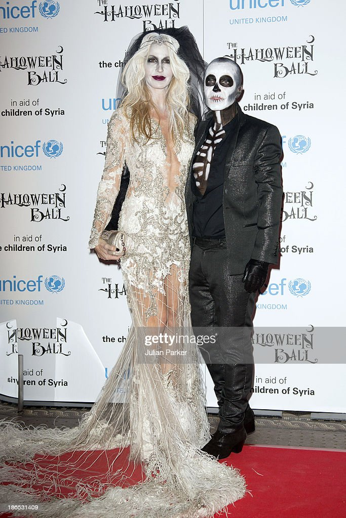 Melissa Oderbash and Julien Maconald attend The UNICEF Halloween Ball at One Mayfair on October 31, 2013 in London, England.