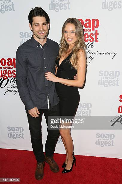 Melissa Ordway and Justin Gaston arrive at the 40th Anniversary of the Soap Opera Digest at The Argyle on February 24 2016 in Hollywood California