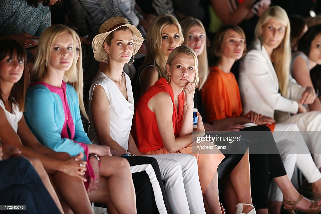 Melissa Ortiz-Gomez, Isabel Edvardsson, Tina Bordihn, Nova Meierhenrich and Rosanna Davison attends the Minx By Eva Lutz show during Mercedes-Benz Fashion Week Spring/Summer 2014 at Brandenburg Gate on July 3, 2013 in Berlin, Germany.