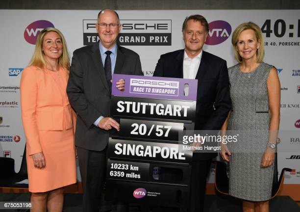 Melissa Pine WTA Finals Tournament Director and VP WTA Asia Pacific Steve Simon WTA CEO and Chairman and Detlev von Platen Member of the Executive...