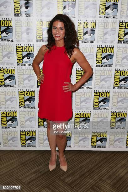 Melissa Ponzio arrives at the 'Teen Wolf' press line at ComicCon International 2017 on July 21 2017 in San Diego California