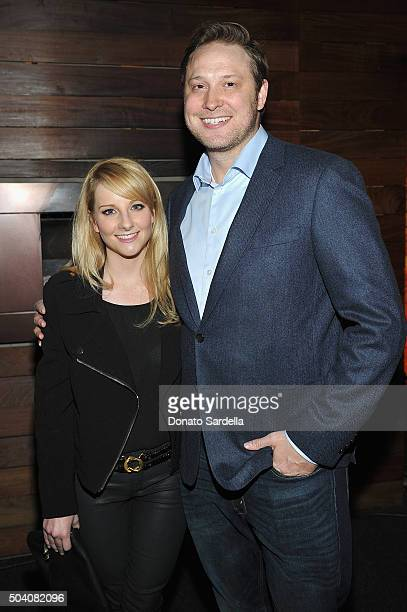 Melissa Rauch and writer Winston Rauch attend Photographs by Kelly Klein Hosted by Barry Diller and Jason Weinberg at BOA Steakhouse on January 8...