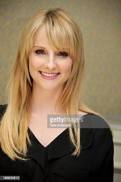 Melissa Rauch at 'The Big Bang Theory' Press Conference at the Four Seasons Hotel on October 30 2013 in Beverly Hills