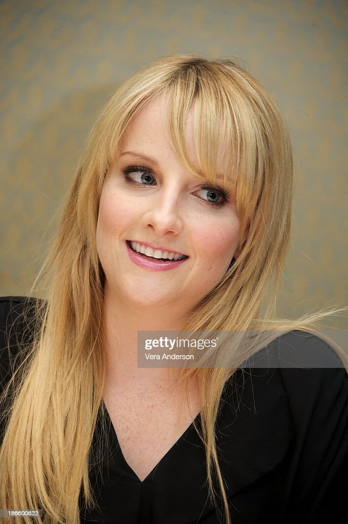 Melissa Rauch at 'The Big Bang Theory' Press Conference at the Four Seasons Hotel on October 30, 2013 in Beverly Hills.