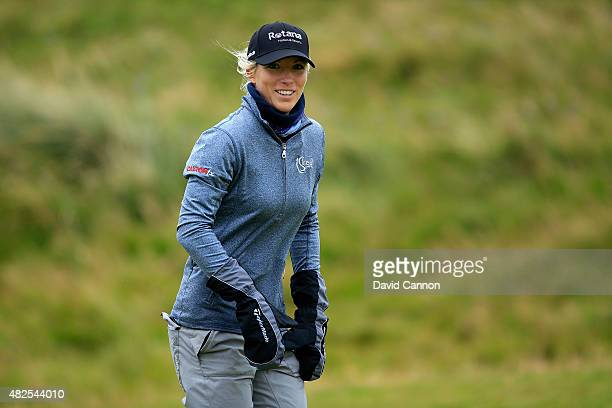 Melissa Reid of England looks on during the Second Round of the Ricoh Women's British Open at Turnberry Golf Club on July 31 2015 in Turnberry...