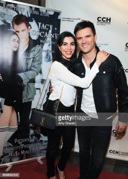 Melissa Ricci and Kash Hovey attend the 'Jack And Cocaine' Screening At The Valley Film Festival at Columbia College Hollywood on October 7 2017 in...