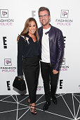 Melissa Rivers and Brad Goreski attend E's 2016 Spring NYFW Kick Off Party at The Standard High Line Biergarten Garden on September 9 2015 in New...