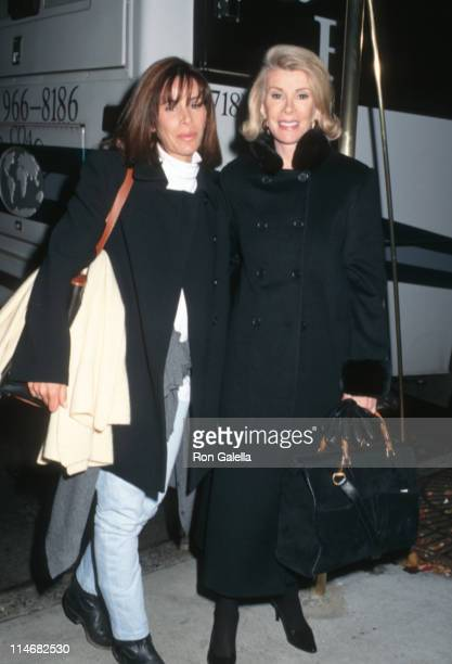 Melissa Rivers and Joan Rivers during Joan Rivers and Melissa Rivers Sighting at Elaine's Restaurant October 25 1996 at Elaine's Restaurant in New...