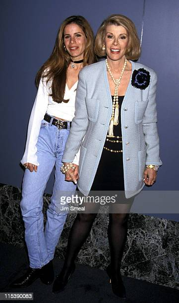 Melissa Rivers and Joan Rivers during NAPTE Convention January 27 1993 at Moscone Convention Center in San Francisco California United States
