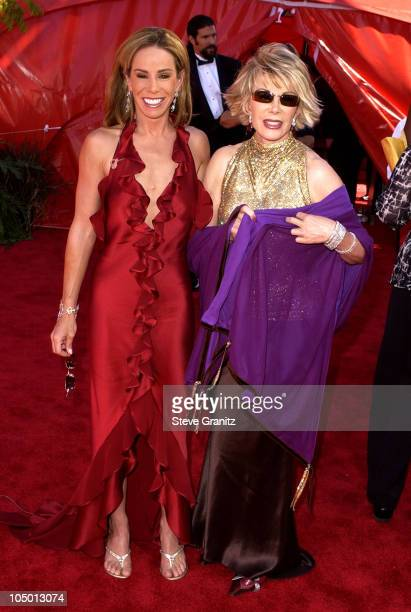 Melissa Rivers and Joan Rivers during The 54th Annual Primetime Emmy Awards Arrivals at The Shrine Auditorium in Los Angeles California United States