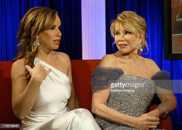 Melissa Rivers and Joan Rivers during The 77th Annual Academy Awards Behind The Scenes at Kodak Theatre in Los Angeles California United States
