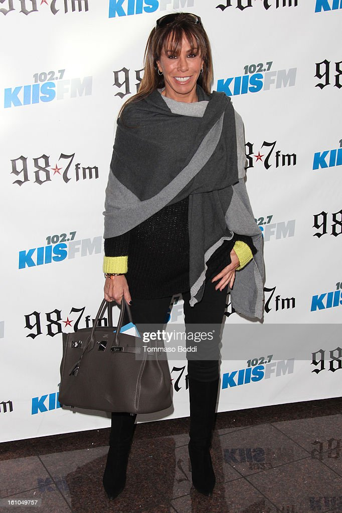 <a gi-track='captionPersonalityLinkClicked' href=/galleries/search?phrase=Melissa+Rivers&family=editorial&specificpeople=204230 ng-click='$event.stopPropagation()'>Melissa Rivers</a> attends the 102.7 KIIS FM and Star 98.7 host 5th annual celebrity and artist lounge celebrating the 55th annual GRAMMYS at ESPN Zone At L.A. Live on February 8, 2013 in Los Angeles, California.