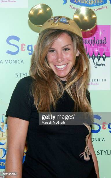 Melissa Rivers attends the Disneyland 50th Anniversary limited edition of Tees designed by Jackie Brander party to celebrate 50 years of Disneyland...