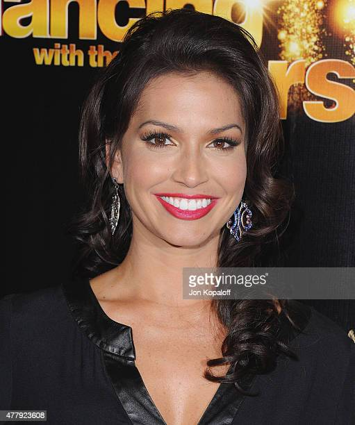 Melissa Rycroft arrives at the 10th Anniversary Of 'Dancing With The Stars' Party at Greystone Manor on April 21 2015 in West Hollywood California