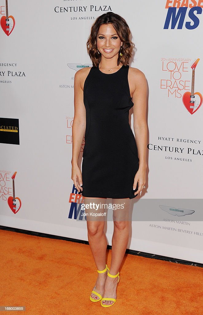 <a gi-track='captionPersonalityLinkClicked' href=/galleries/search?phrase=Melissa+Rycroft&family=editorial&specificpeople=5761590 ng-click='$event.stopPropagation()'>Melissa Rycroft</a> arrives at the 20th Annual Race To Erase MS 'Love To Erase MS' Gala at the Hyatt Regency Century Plaza on May 3, 2013 in Century City, California.