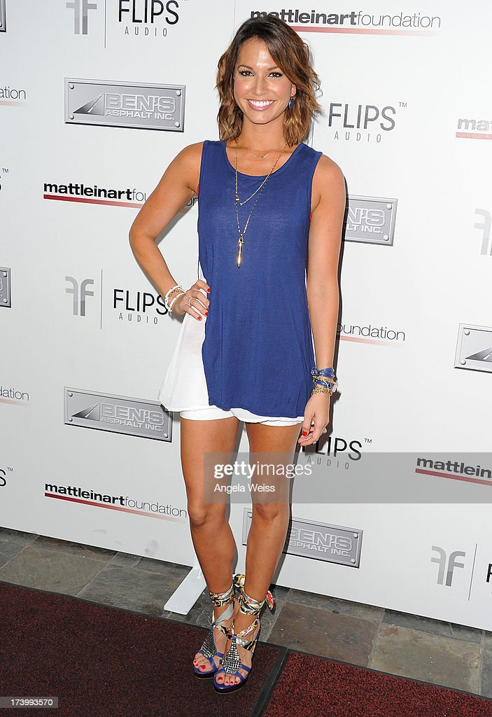 <a gi-track='captionPersonalityLinkClicked' href=/galleries/search?phrase=Melissa+Rycroft&family=editorial&specificpeople=5761590 ng-click='$event.stopPropagation()'>Melissa Rycroft</a> arrives at the Matt Leinart Foundation's 7th Annual 'Celebrity Bowl' at Lucky Strike Bowling Alley on July 18, 2013 in Hollywood, California.