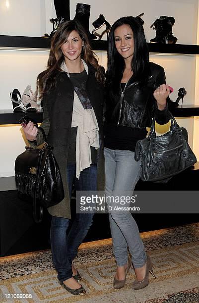 Melissa Satta and Giorgia Palmas attend Giuseppe Zanotti Design autumnwinter collection on February 27 2010 in Milan Italy