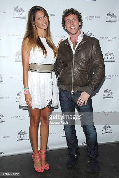 Melissa Satta and Matteo Valtolina attend Antica Murrina Unveils G Lace Bracelet on June 13 2013 in Milan Italy
