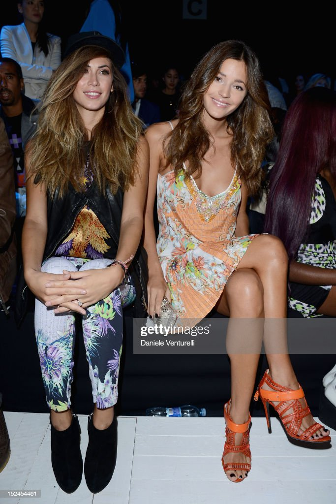 Melissa Satta and spanish model Malena Costa attends the Just Cavalli Spring/Summer 2013 fashion show as part of Milan Womenswear Fashion Week on...