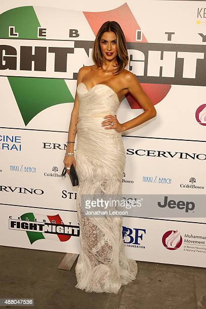 Melissa Satta attend the Celebrity Fight Night gala at Palazzo Vecchio during 2015 Celebrity Fight Night Italy benefiting the Andrea Bocelli...