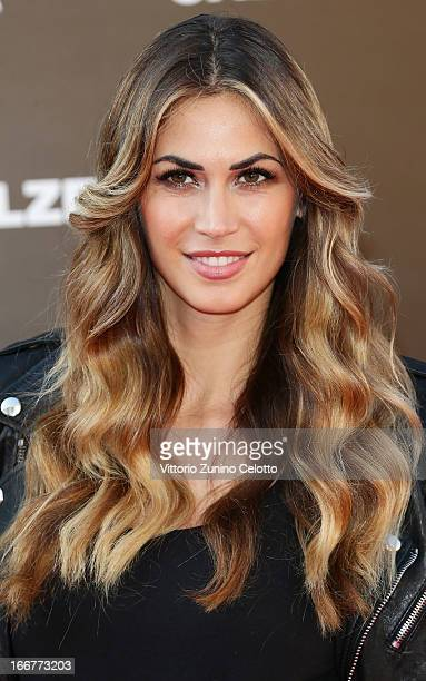 Melissa Satta attends Calzedonia Summer Show Forever Together on April 16 2013 in Rimini Italy
