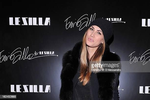 Melissa Satta attends Le Silla Presentation during Milan Fashion Week Womenswear Fall/Winter 2013/14 on February 23 2013 in Milan Italy
