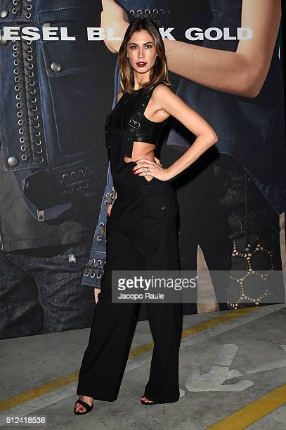 Melissa Satta attends the Diesel Black Gold show during Milan Fashion Week Fall/Winter 2016/17 on February 26 2016 in Milan Italy