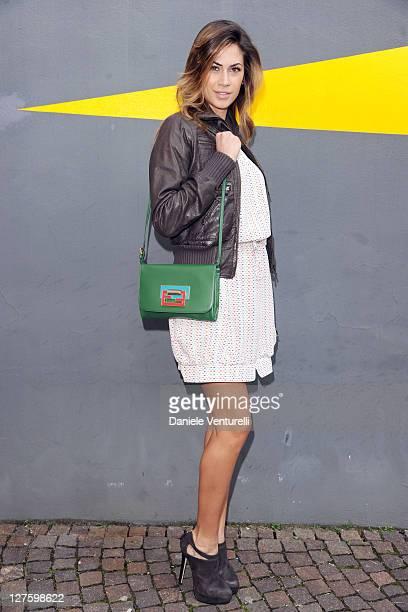 Melissa Satta attends the Fendi fashion show as part of on Milan Fashion Week Womenswear Autumn/Winter 2011 on February 24 2011 in Milan Italy