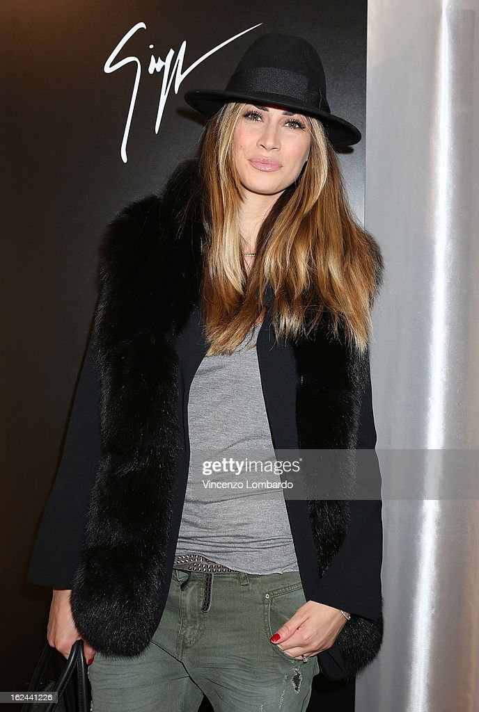 Melissa Satta attends the Giuseppe Zanotti Design Presentation during Milan Fashion Week Womenswear Fall/Winter 2013/14 on February 23, 2013 in Milan, Italy.