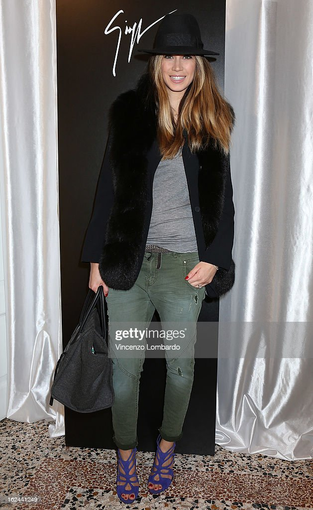 <a gi-track='captionPersonalityLinkClicked' href=/galleries/search?phrase=Melissa+Satta&family=editorial&specificpeople=2083016 ng-click='$event.stopPropagation()'>Melissa Satta</a> attends the Giuseppe Zanotti Design Presentation during Milan Fashion Week Womenswear Fall/Winter 2013/14 on February 23, 2013 in Milan, Italy.