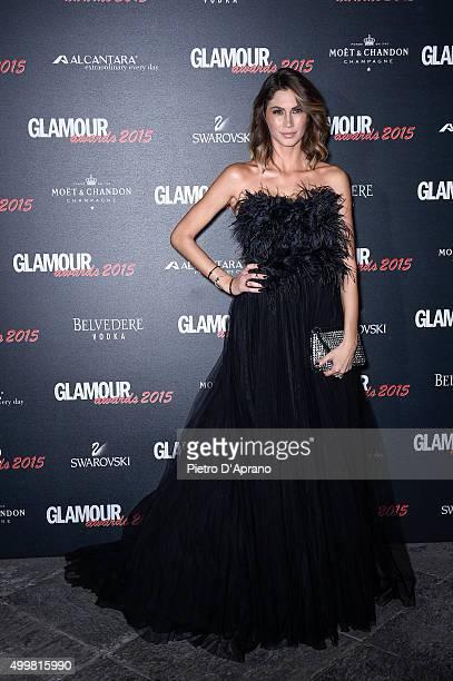 Melissa Satta attends the Glamour Awards 2015 on December 3 2015 in Milan Italy
