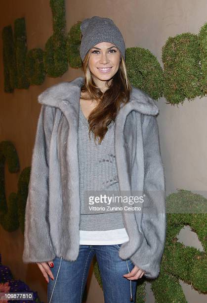 Melissa Satta attends the Le Silla Flagship Store Opening on March 8 2011 in Milan Italy