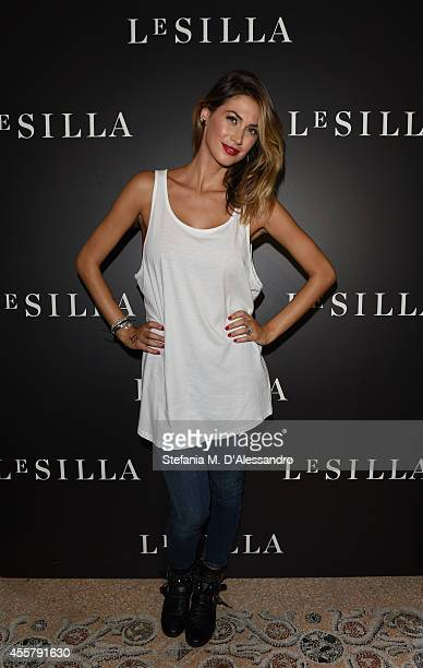 Melissa Satta attends the Le Silla Spring/Summer 2015 Collection Presentation as part of Milan Fashion Week Womenswear Spring/Summer 2015 on...