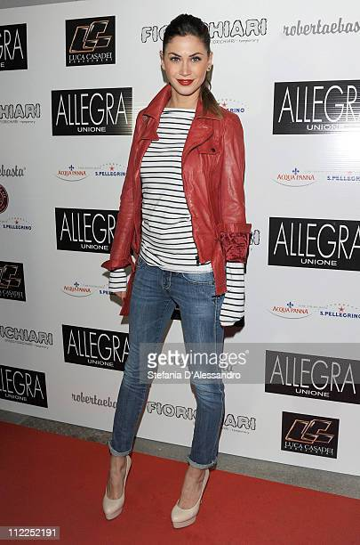 Melissa Satta attends the Temporary Shop Fiorichiari Private Party as part of Milan Design Week 2011 on April 15 2011 in Milan Italy