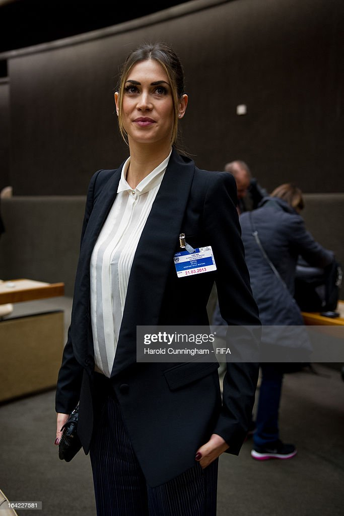 <a gi-track='captionPersonalityLinkClicked' href=/galleries/search?phrase=Melissa+Satta&family=editorial&specificpeople=2083016 ng-click='$event.stopPropagation()'>Melissa Satta</a>, girlfriend of footballer Kevin-Prince Boateng of AC Milan, looks on during the discussion panel on the International Day for the Elimination of Racial Discrimination at United Nations Office in Geneva on March 21, 2013 in Geneva, Switzerland. On the United Nations' (UN) International Day for the Elimination of Racial Discrimination, the Office of the High Commissioner for Human Rights (OHCHR) see today as a unique opportunity to celebrate diversity and urged all sportswomen and sportsmen, sports authorities and fans to take decisive action against intolerance and racism in sports and celebrate human achievement and excellence beyond the narrow boundaries of ethnicity, race or nationality.