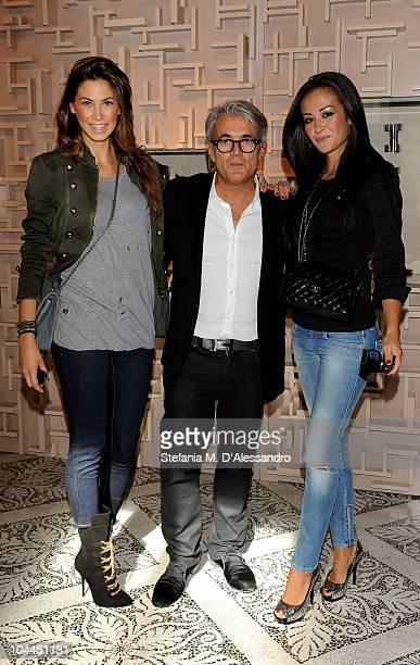 Melissa Satta Giuseppe Zanotti and Giorgia Palmas attend Giuseppe Zanotti Design during the Milan Fashion Week Womenswear S/S 2011 on September 25...