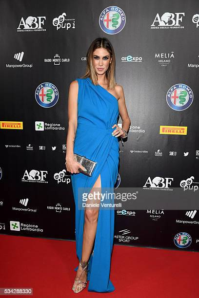 Melissa Satta walks the red carpet of Bocelli and Zanetti Night on May 25 2016 in Rho Italy