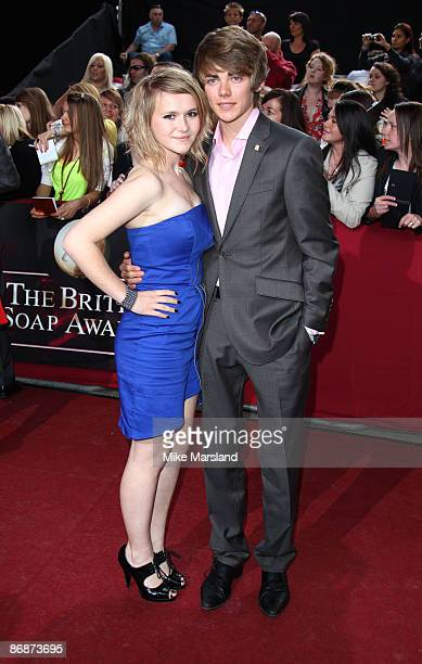 Melissa Suffield and Thomas Law attend the British Soap Awards at BBC Television Centre on May 9 2009 in London England