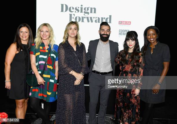 Melissa Tate Emily Henderson Amber Lewis Robert Martinez Christina Marinez and Colette Shelton attend the Design Forward with Delta Faucet at Cooper...