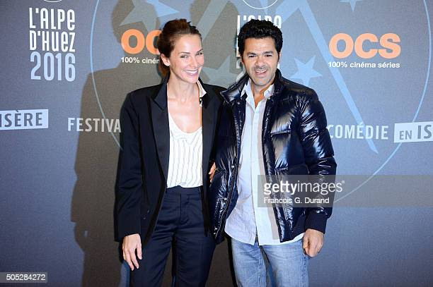 Melissa Theuriau and Jamel Debbouze arrive at the closing ceremony of the 18th L'Alpe D'Huez International Comedy Film Festival on January 16 2016 in...