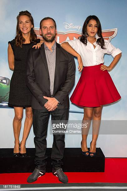 Melissa Theuriau Fred Testot and Leila Bekhti attend the 'Planes' Paris Premiere At UGC Normandie on September 24 2013 in Paris France