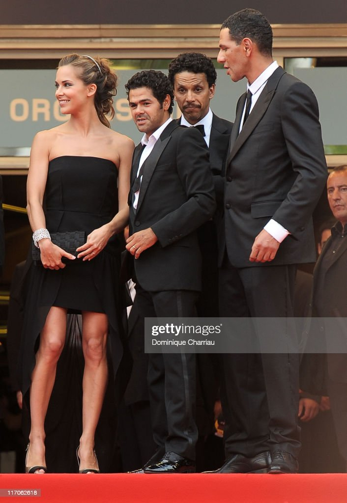 Melissa Theuriau, Jamel Debbouze, Sami Bouajila and Roschdy Zem attend the 'Outside the Law' Premiere at the Palais des Festivals during the 63rd Annual International Cannes Film Festival on May 21, 2010 in Cannes, France.