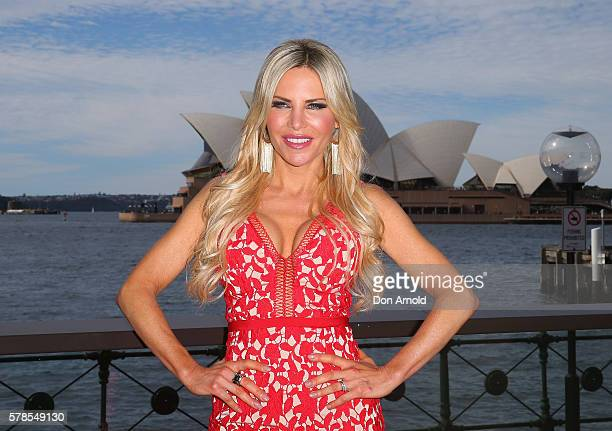 Melissa Tkautz poses during a media call to announce the cast of The Real Housewives of Sydney at the Park Hyatt on July 22 2016 in Sydney Australia