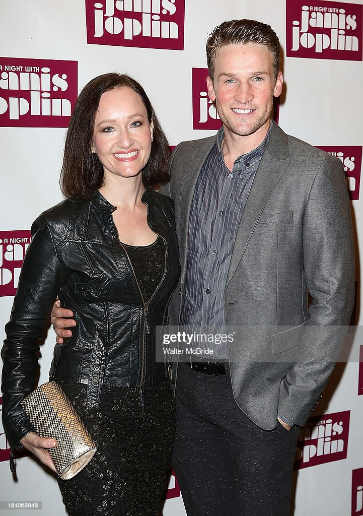 Melissa van der Schyff and Claybourne attend the broadway opening night of 'A Night With Janis Joplin' at Lyceum Theatre on October 10, 2013 in New York City.