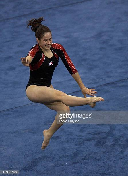 Melissa Vituj of Utah in action during the 2004 NCAA Championship Team Finals at Pauley Pavilion in Westwood California April 16