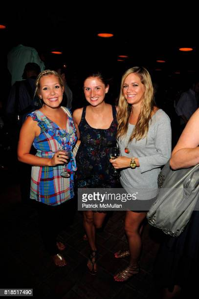 Melissa Walker Jessie Bandy and Courtney Dietz attend The Target Kaleidoscopic Fashion Spectacular Lights up New York City at The Standard on August...